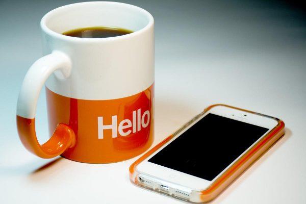 Hello Cup And Mobile | Fandango Digital