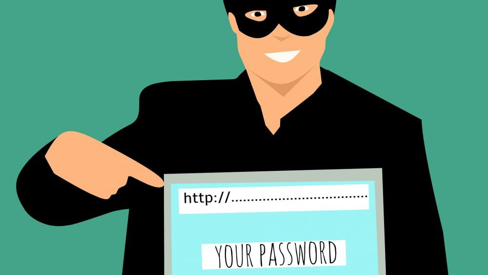 hacker holding a laptop with http url entered. - fandango