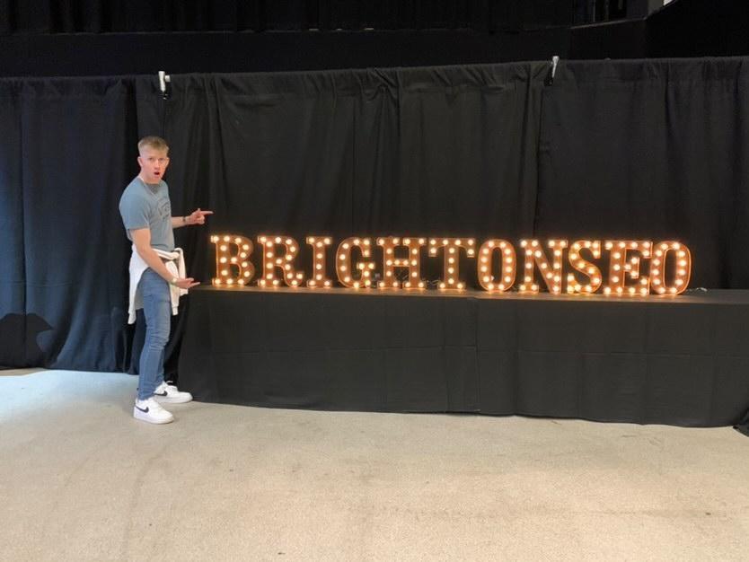 Charlie & BrightonSEO sign | Fandango Digital