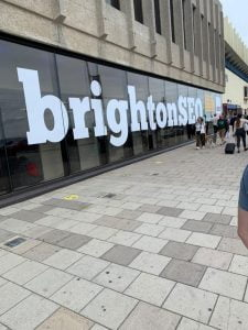 BrightonSEO entrance | Fandango Digital